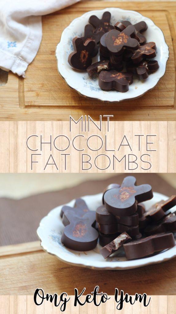 Mint chocolate fat bomb