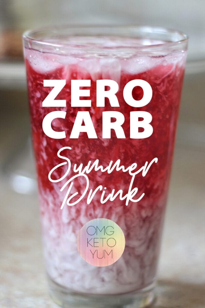 This Zero Carb Summer Drink does not skimp on flavor while keeping super low carb. Keep your keto diet and enjoy a refreshing starbucks copycat made at home.