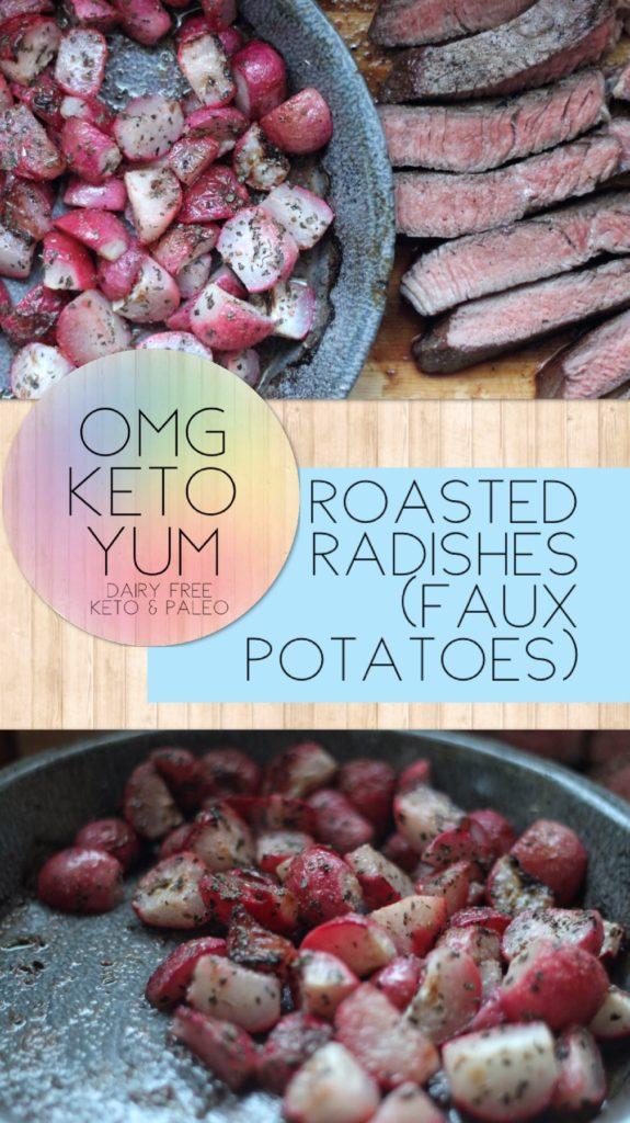 Roasted Radishes (Keto potatoes)