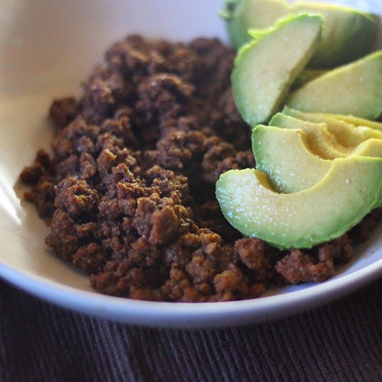 ground turkey and avocado