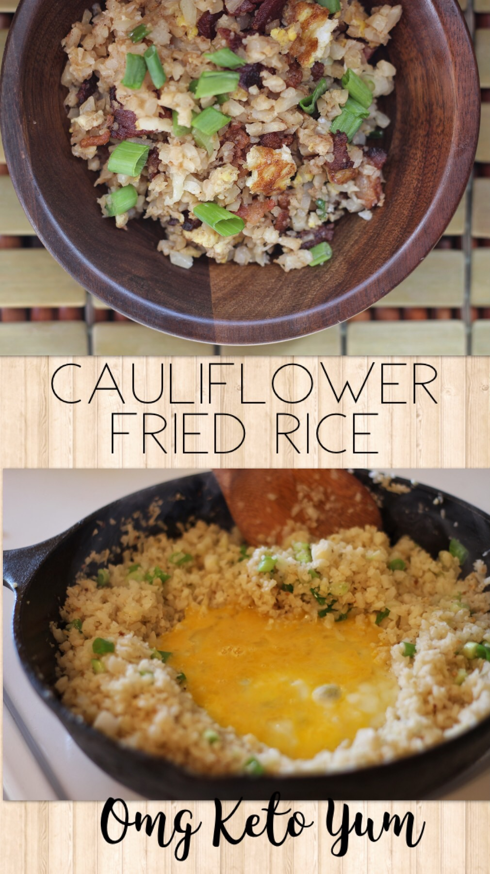 Cauliflower Fried Rice - Keto, low carb, Paleo