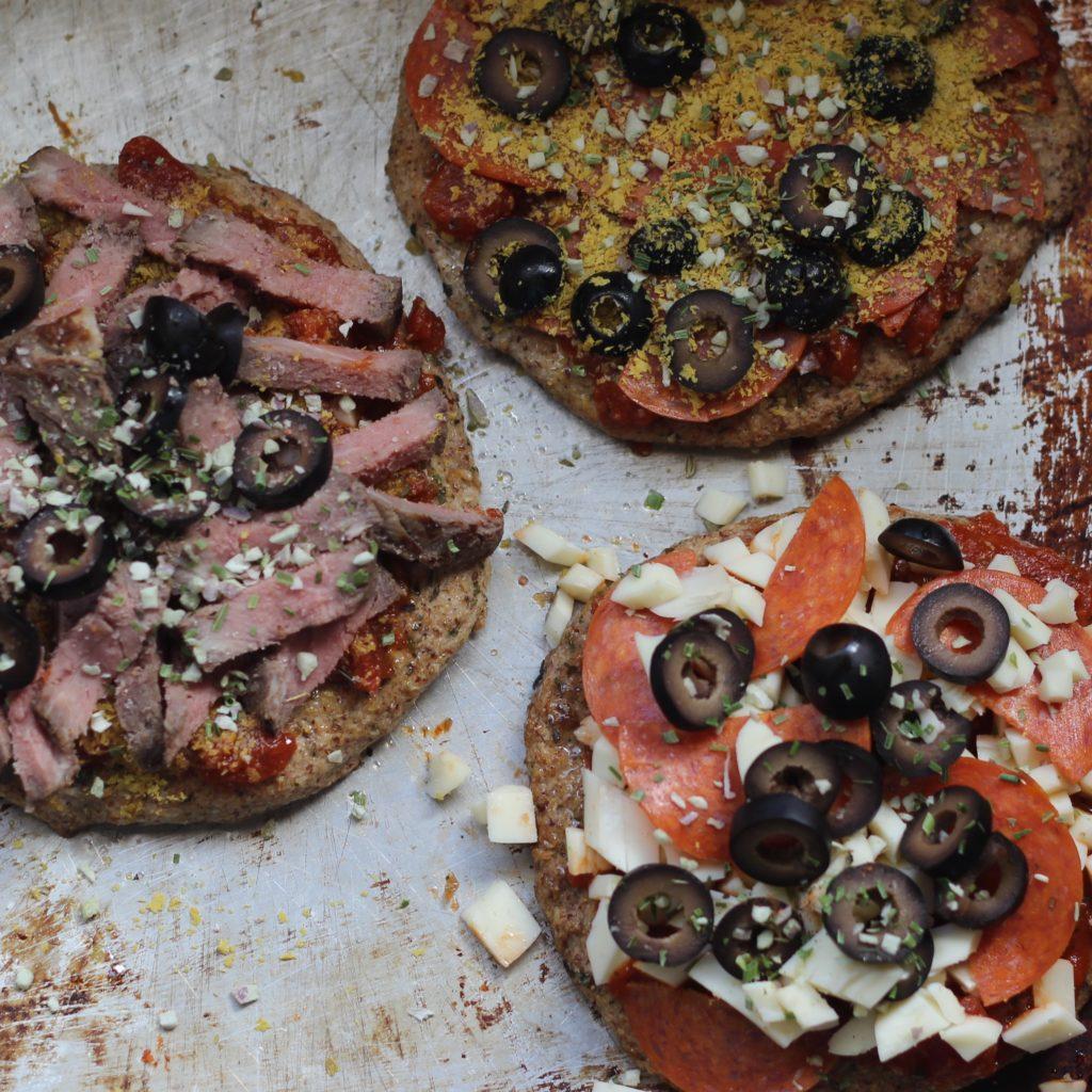 Keto paleo dairy free pizza