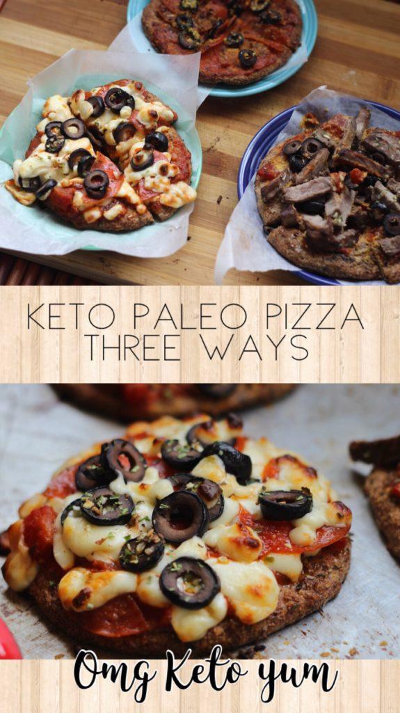 Three ways to make a Keto paleo pizza