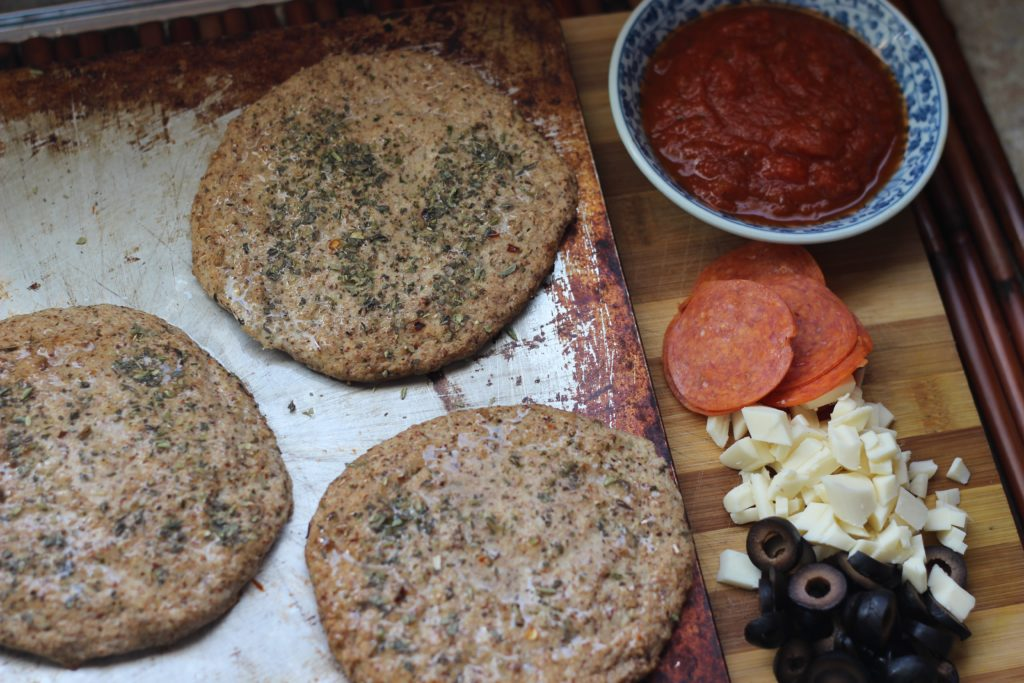 Grain free Keto pizza crust