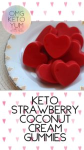 OMG KETO YUM Strawberry Coconut Cream Gummies
