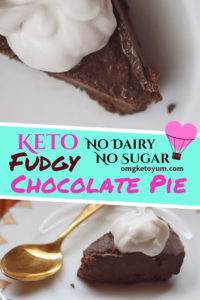 Fudgy Keto Chocolate Pie
