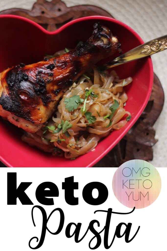 Keto Noodles that are spicy and delicious! Keto ramen noodles that you can eat while on the keto diet. Keto pasta!