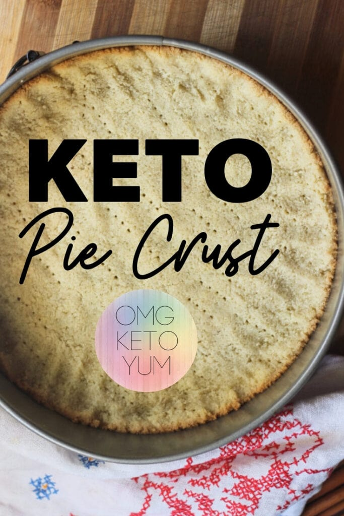 Keto Pie Crust! Make this super low carb keto pie crust and fill it up with a keto pie!