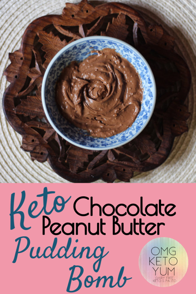 OMG KETO YUM Chocolate Peanut Butter Pudding Bomb