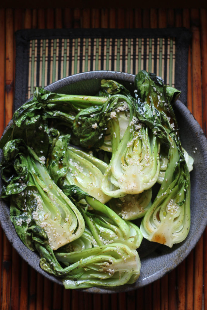 Roasted Bok Choy Keto Paleo Side Dish