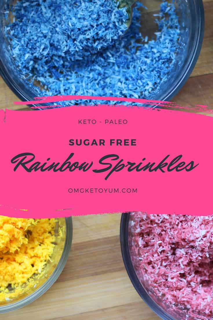 Sugar Free Rainbow Sprinkles for your low carb desserts! I put Rainbow Sprinkles on everything because we eat with out eyes first.