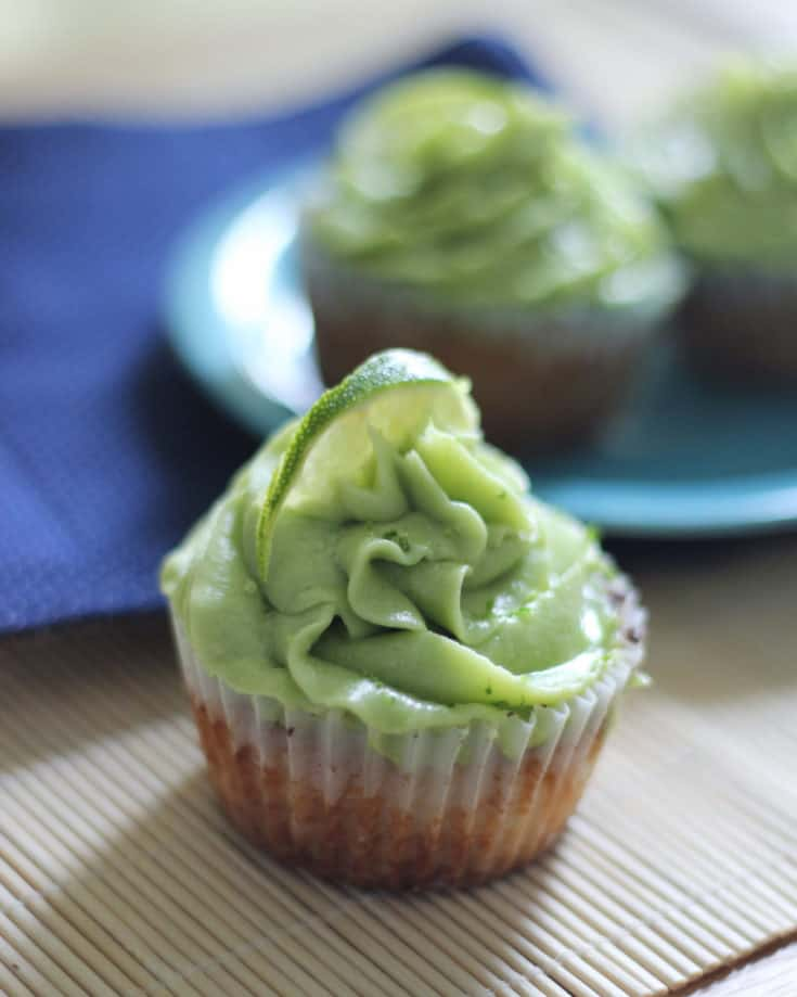 Key Lime Keto Cupcakes