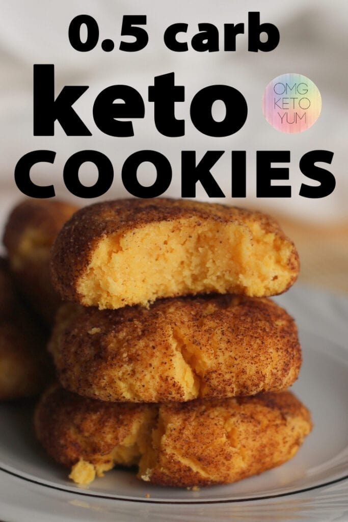 These Keto Pumpkin Cookies are only one carb! They're basically low carb snickerdoodles with a twist!