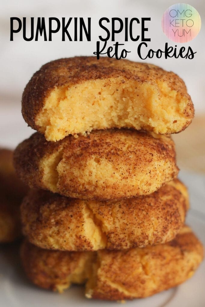 These Keto Pumpkin Cookies are only one carb! They're basically low carb snickerdoodles with a twist! Make these Keto Pumpkin Spice cookies and keep your keto diet intact.