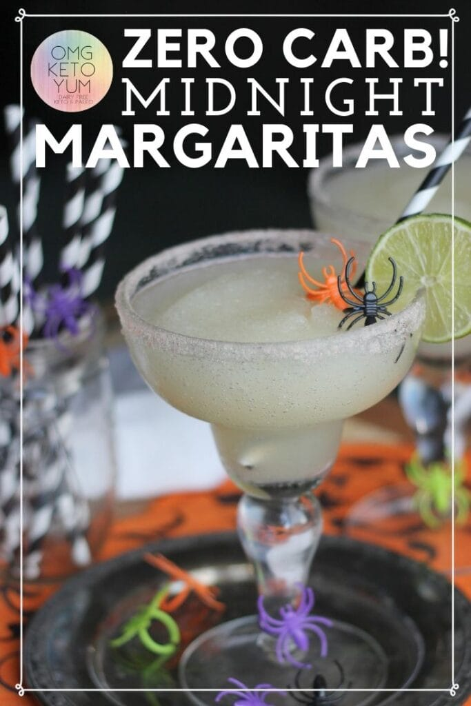 These zero Carb Midnight Margaritas are great for Halloween when you are low carb dieting. You can drink low carb alcoholic drinks like this keto margarita and maintain your keto diet. Keep your low carb diet clean with this low carb margarita.