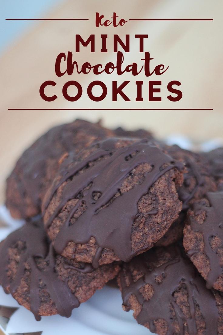 Keto Mint Chocolate Cookies