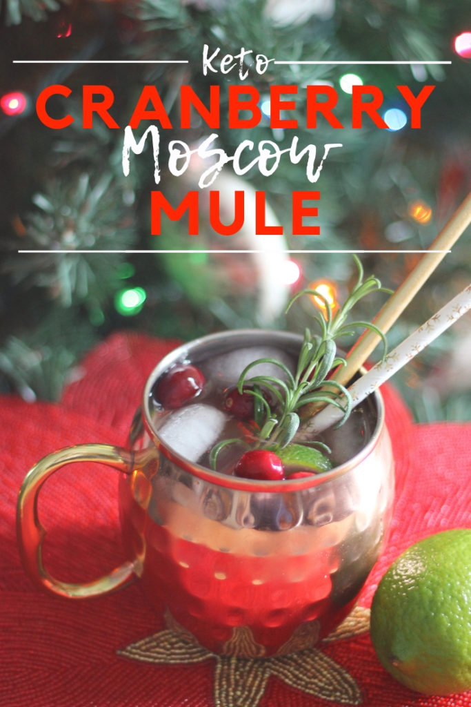 This keto moscow mule is zero carbs and the perfect low carb alcoholic drink for Christmas. Enjoy this sugar free cocktail guilt free because it is a zero carb alcoholic drink!