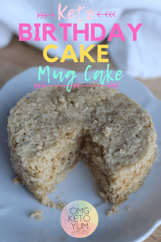 Keto Birthday Mug Cake