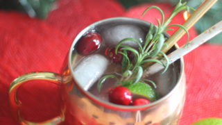 Keto Cranberry Moscow Mule