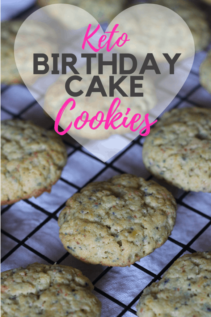 Keto Birthday Cake Cookies