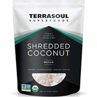 Terrasoul Superfoods Organic Shredded Coconut, 1 Lb - Medium Size | Perfect for Baking & Making Fresh Coconut Milk