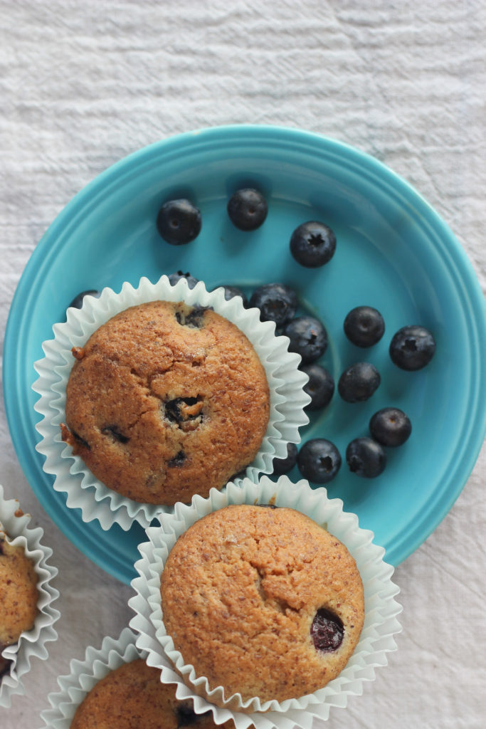 low carb Blueberry Muffins that are low carb and keto.