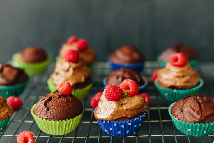Chocolate Coconut Keto Cupcakes