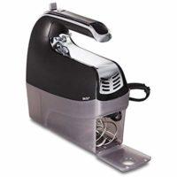 Hamilton Beach 62620 6-Speed Snap on Case Hand Mixer, Black