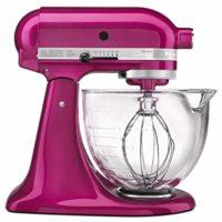KitchenAid KSM155GBRI 5-Qt. Artisan Design Series with Glass Bowl - Raspberry Ice