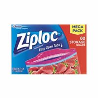Ziploc Storage Bags, quart, 80 ct