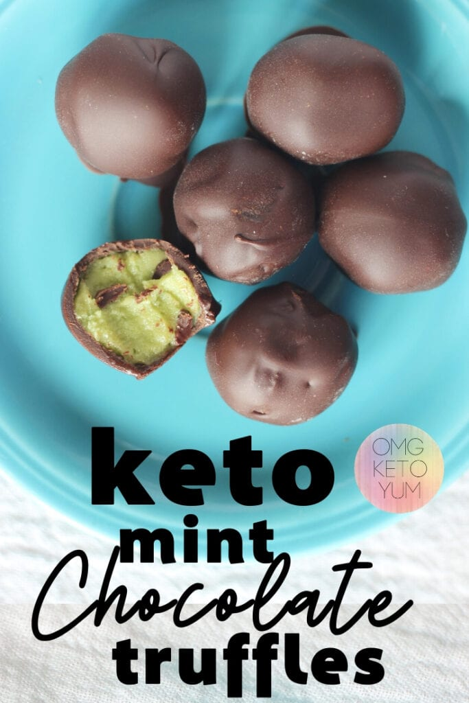 Keto Truffles that are low carb and delicious. These Keto Chocolate Mint Truffles will wow you with their Chocolate outside and Minty inside.