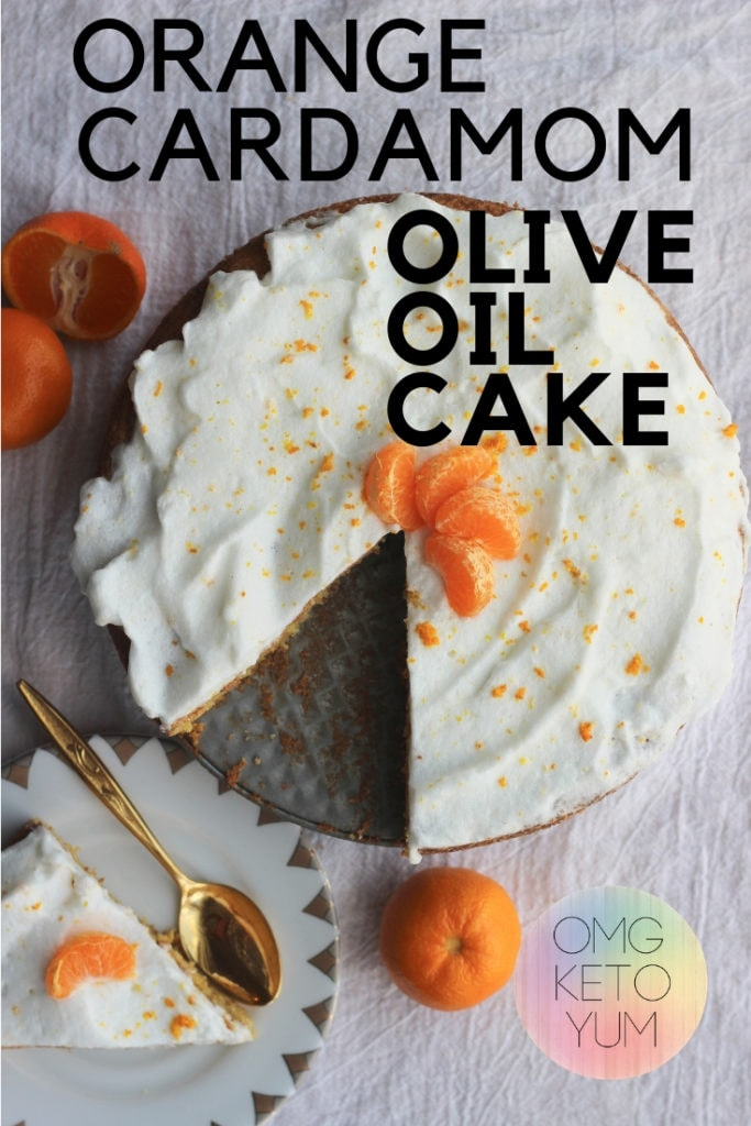 A keto olive oil cake flavored with Orange and Cardamom.