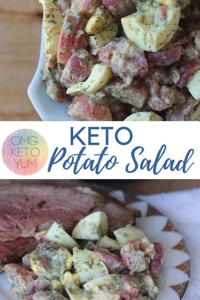 This low carb potato salad will be perfect for your summer bbq's and parties. Make a keto potato salad and don't miss out on the summer recipes!