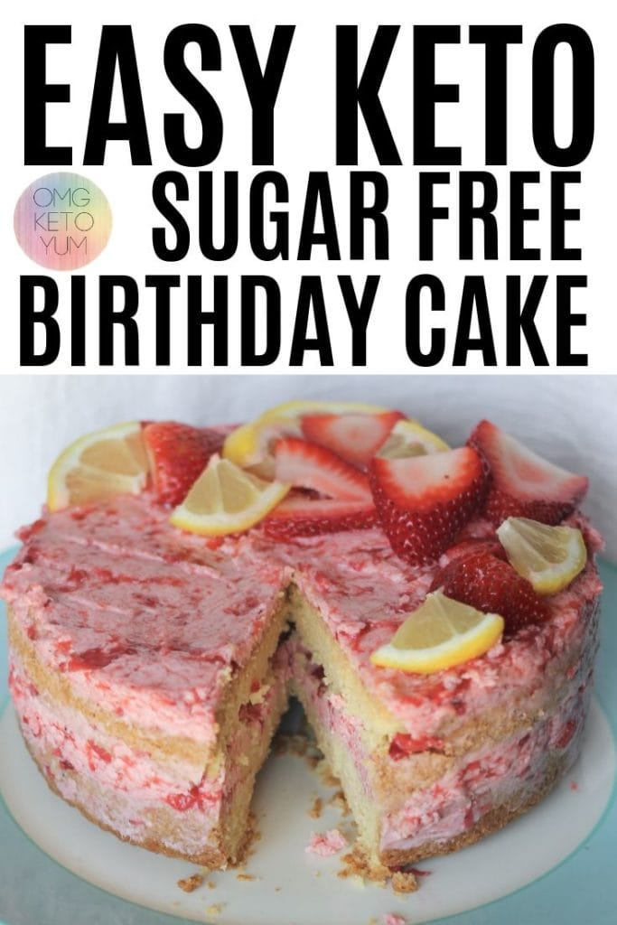 This easy keto sugar free birthday cake will make your keto birthday complete. The keto birthday cake is soft and so good! This sugar free birthday cake will make anyones birthday perfect keto, low carb or not you're gonna love it!