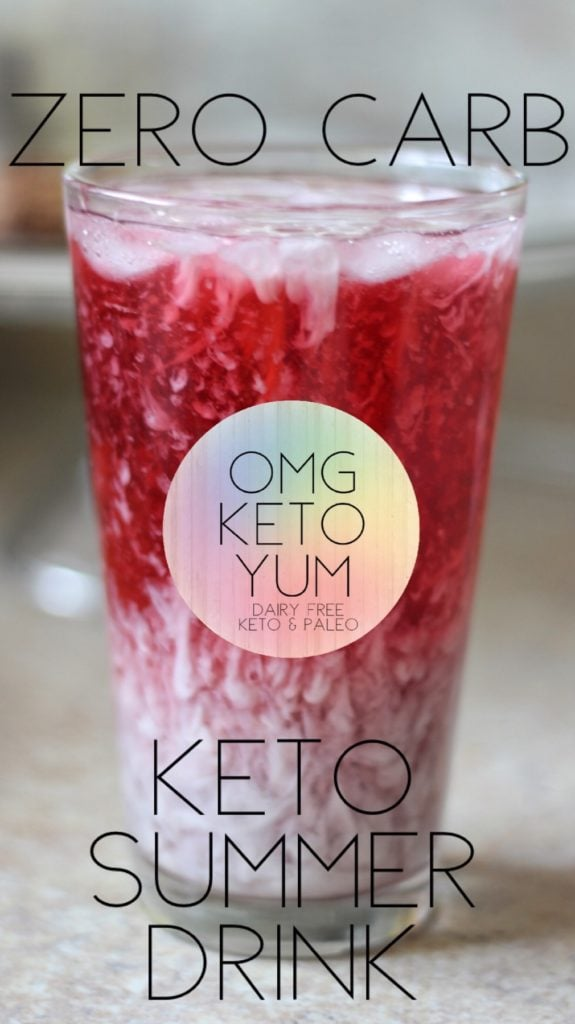 Zero Carb Keto Summer Drink. Don't drink your carbs when you are on a keto diet. This Starbucks Copycat Purple Drink does not skimp on flavor!