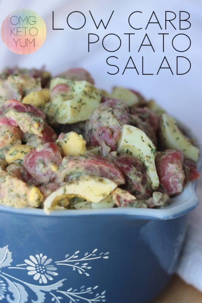 Low Carb Potato Salad is just what you need this summer! This keto potato salad is perfect for summer barbeques and parties.