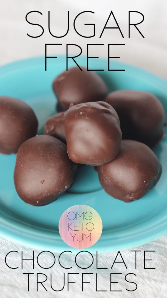Sugar Free Chocolate Truffles that are keto and so good! Mint on the inside and sugar free chocolate on the outside these keto treats are so good!