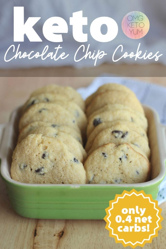 "alt=""Easy Keto Cookies Recipes. Make these amazing keto cookies and stay in ketosis. Love your life and these keto cookies! Keto Cookies that are zero carbs or less! Low carb Chocolate Chip Cookies that are soft and chewy. These low carb cookies are worth making because they are just like a normal cookie except they are low carb. These Keto Chocolate Chip cookies are soft and chewy. Make some soft keto cookies for someone who is eating a low carb diet that you love. Eating the keto diet can be easy when you make yourself some keto Cookies!"""