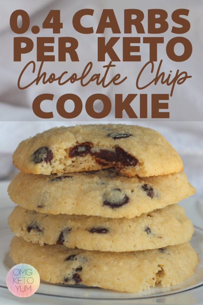 Keto Chocolate Chip Cookies .Soft and Chewy Keto Chocolate Chip Cookies! These keto cookies are soft and chewy and low carb. These cookies are .4 carbs per cookie! Make some Keto Chocolate Chip Cookies for your low carb family because they deserve keto cookies! These Keto Chocolate Chip cookies are soft and chewy. Make some soft keto cookies for someone who is eating a low carb diet that you love. Eating the keto diet can be easy when you make yourself some keto cookies!
