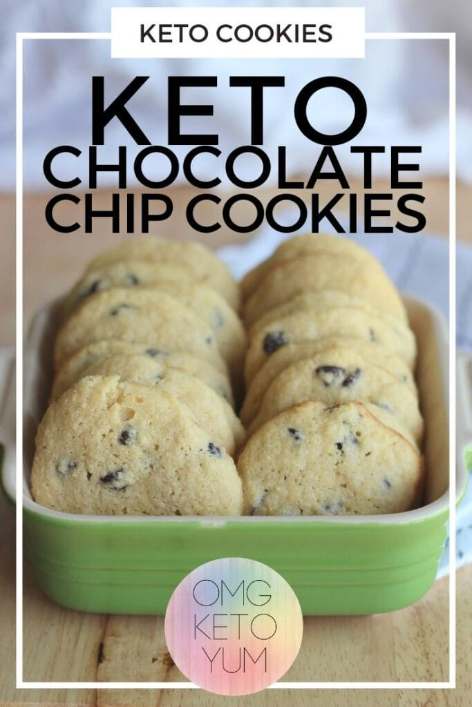 These Keto Chocolate Chip cookies are soft and chewy. Make some soft keto cookies for someone who is eating a low carb diet that you love. Eating the keto diet can be easy when you make yourself some keto cookies!