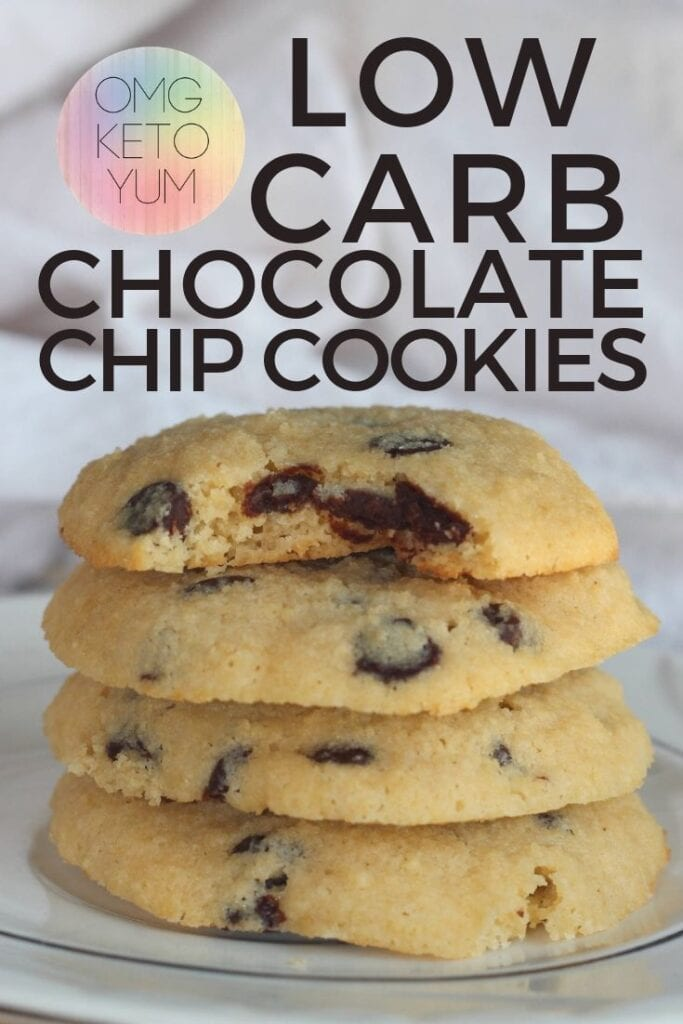 Low carb Chocolate Chip Cookies that are soft and chewy. These low carb cookies are worth making because they are just like a normal cookie except they are low carb.