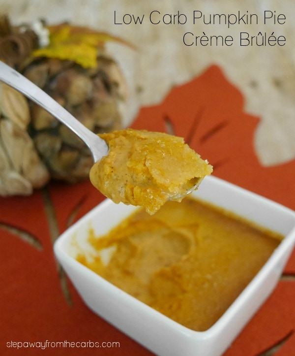 Low Carb Pumpkin Pie Crème Brûlée