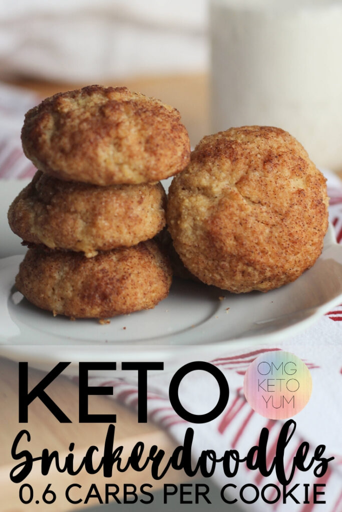 Keto Snickerdoodle Cookies that are only .6 carbs per cookie! These keto cookies are a perfect keto dessert for your keto diet.