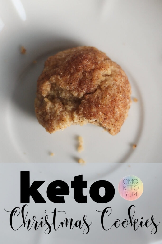 Keto Snickerdoodle Cookies that are only .6 carbs per cookie! These keto cookies are a perfect keto dessert for your keto diet. These Keto Christmas Cookies will help make your Keto Christmas easy. Have a very Keto Christmas!