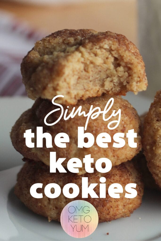 Keto Snickerdoodle Cookies that are only .5 carbs per cookie! These keto cookies are a perfect keto dessert for your keto diet.