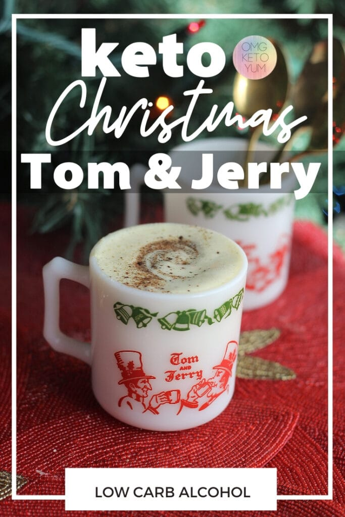 Keto Tom and Jerry Batter! Make this low carb alcoholic drink for the holidays. This is a delicious Dairy free Tom and Jerry recipe. Sugar Free Tom and Jerry Drink. Stay Keto for Christmas!