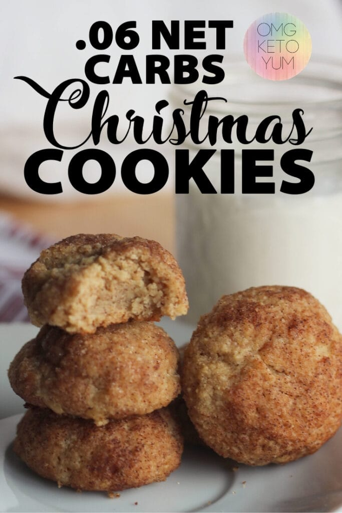 Zero Carb Keto Cookies! These low carb cookies are actually zero carb cookies! Only .6 net carbs per keto cookie!