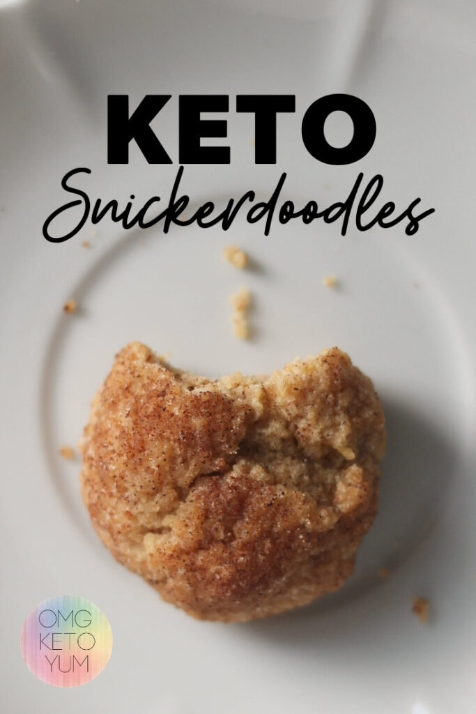 Keto snickerdoodles that are soft and chewy. These low carb cookies have a lot of bang for the buck while maintaining only .4 carbs per cookie!