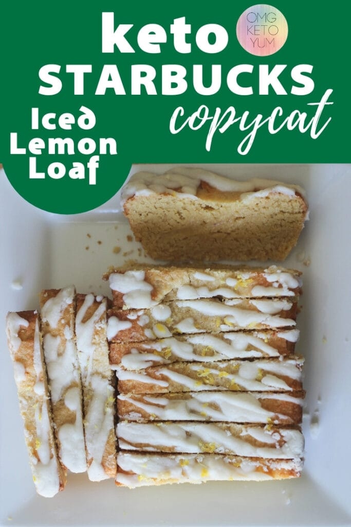 Low Carb Lemon Loaf that tastes like a bite of sunshine! Make this keto lemon loaf or keto lemon pound cake today and keep it keto. This Keto Dessert is perfect for low carb and keto diets. Make the keto starbucks copycat iced lemon cake! Just like starbucks but low carb!