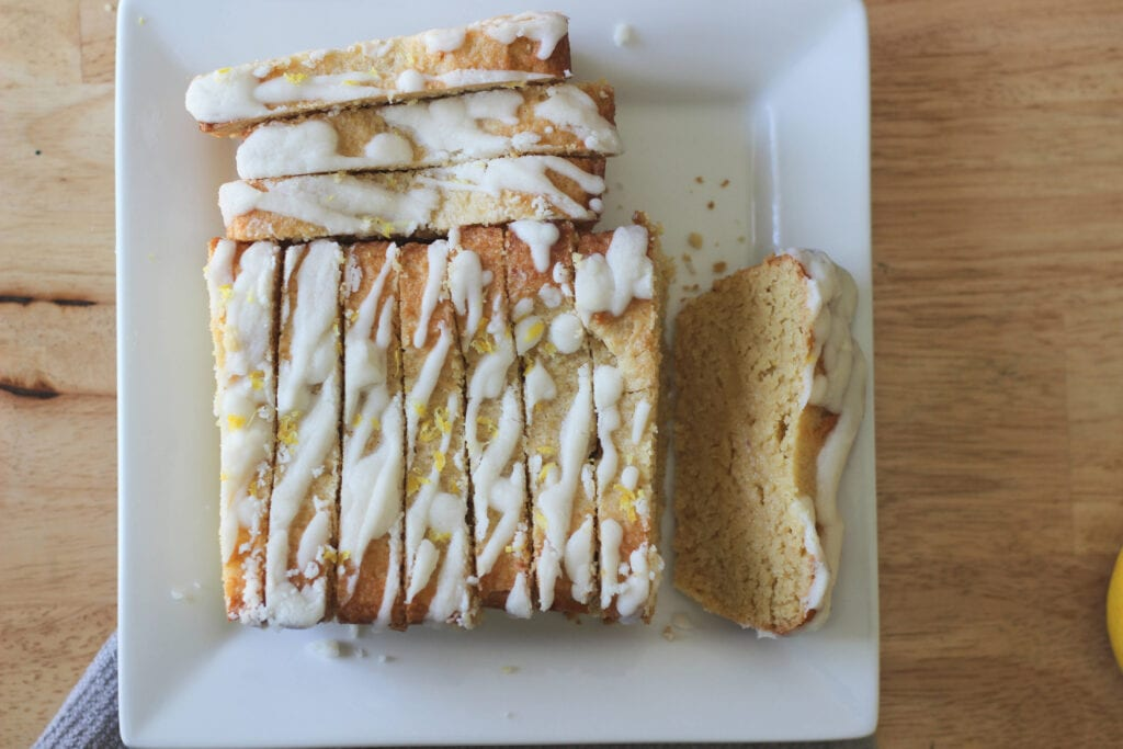 Low Carb Lemon Loaf that tastes like a bite of sunshine! Make this keto lemon loaf or keto lemon pound cake today and keep it keto. This Keto Dessert is perfect for low carb and keto diets.